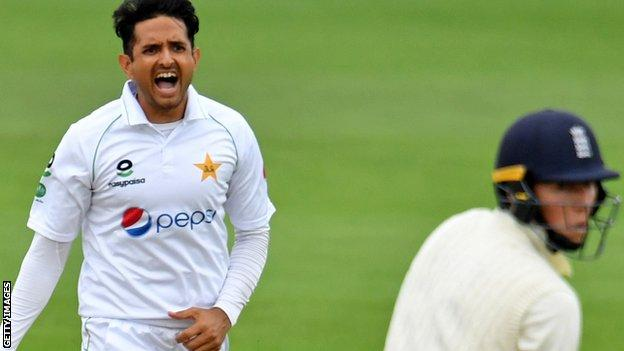 Mohammad Abbas in action for Pakistan against England at the Ageas Bowl in 2020