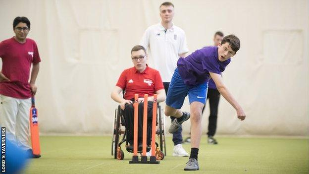 Young players taking part in the ECB and Lord's Taverners Super1s programme
