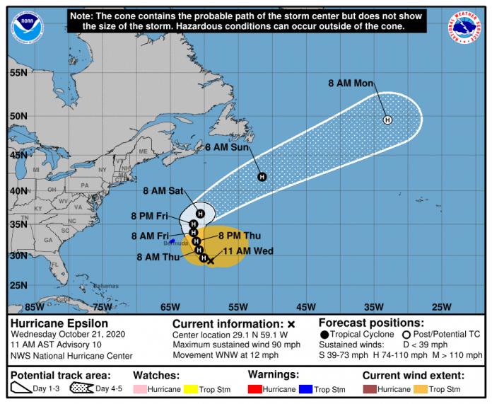 Epsilon now a Cat 1 hurricane