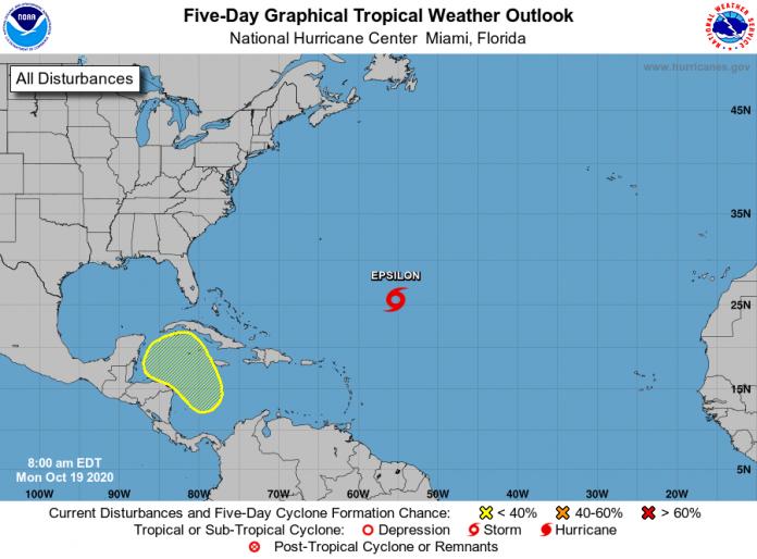 Tropical Storm Epsilon forms hundreds of miles off Bermuda