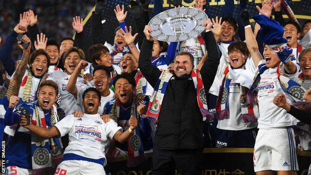 Ange Postecoglou led Yokohama F Marinos to the J-League title in 2019