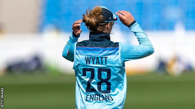 Wyatt features for England in a Tour match against New Zealand in February