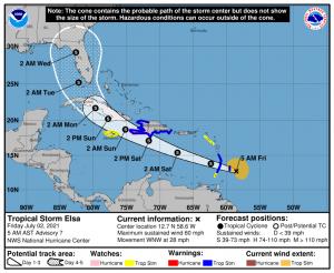 Breaking: Elsa strengthens to hurricane