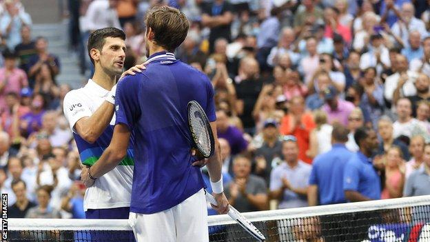 Novak Djokovic and Daniil Medvedev